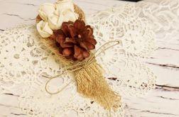 Butonierka ślubna w stylu rustykalnym