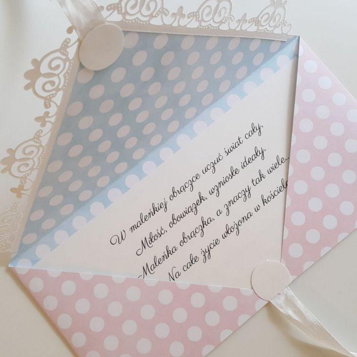 Kartka ślubna kopertówka - obrączki