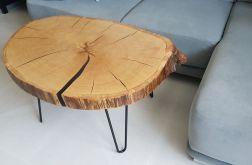 Duży dębowy stolik kawowy