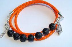 Pomarańczowy rzemień z lawą