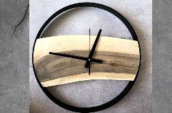 Zegar w obręczy - deska orzecha