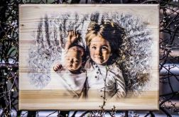 Zdjęcie na desce A3 prezent na roczek