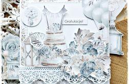 Tort weselny - kartka ślubna