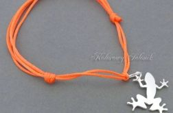 Srebrna bransoletka Żaba Frog pomarańcz