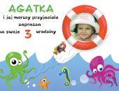 Zaproszenie na urodziny dziecka ze zdjęciem na 2,3,4,5,6,7,8,9 itd Nad morzem