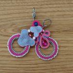 Różowo-niebieskie kolczyki sutasz