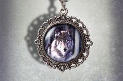 Medalion Szary wilk - Grey wolf - zdobiony