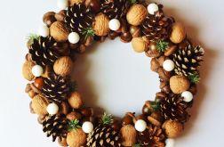 Wianek świąteczny brązowy