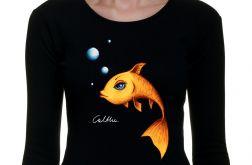 Złota rybka - długi rękaw - czarna