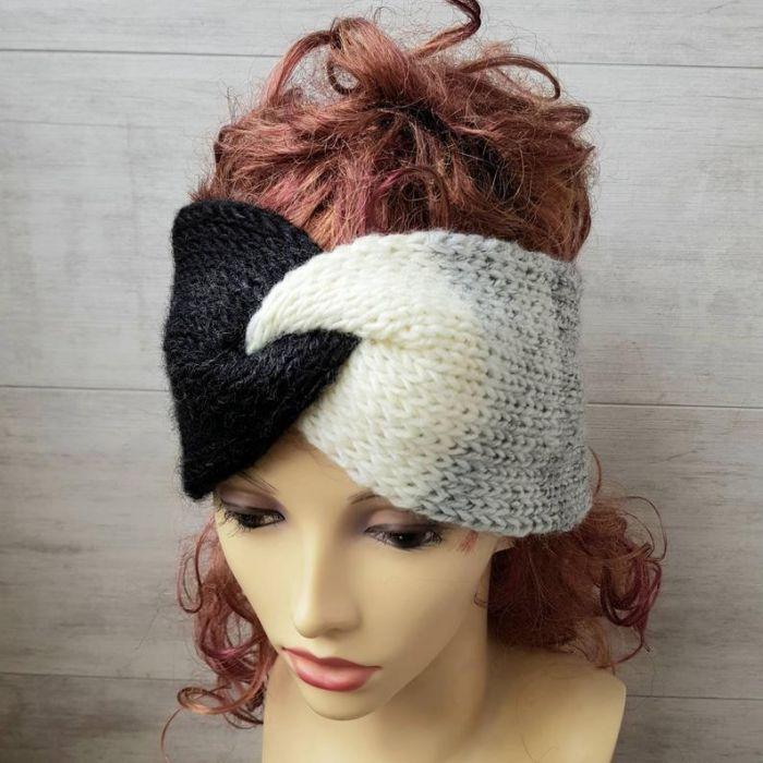 Opaska na głowę, Ombre - turban opaska