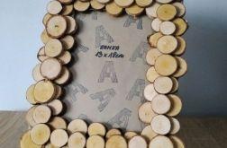 Ramka na zdjęcie drewniana rustykalna