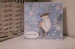 Kartka świąteczna Boże Narodzenie renifer