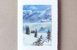 Kartka zimowy pejzażyk nr 16