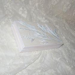 skrzyneczka szkatułka na obrączki kopertę