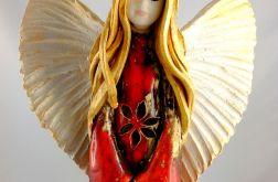 Anioł ceramiczny ażurowy duży