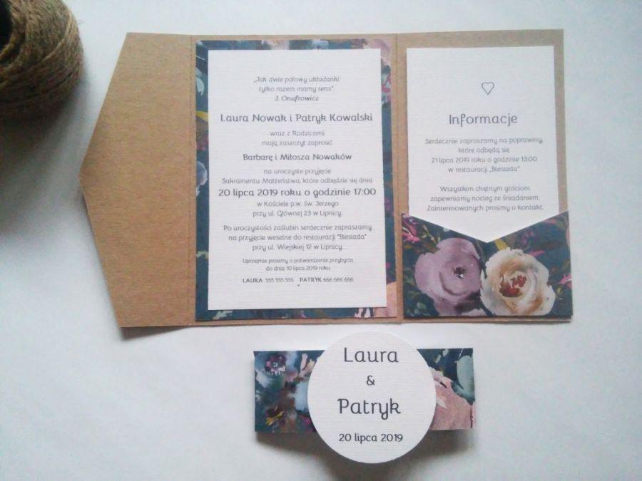 Zaproszenie na ślub w folderze