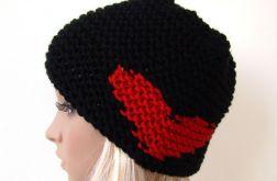 miłosna:) czapka z sercami na uszach