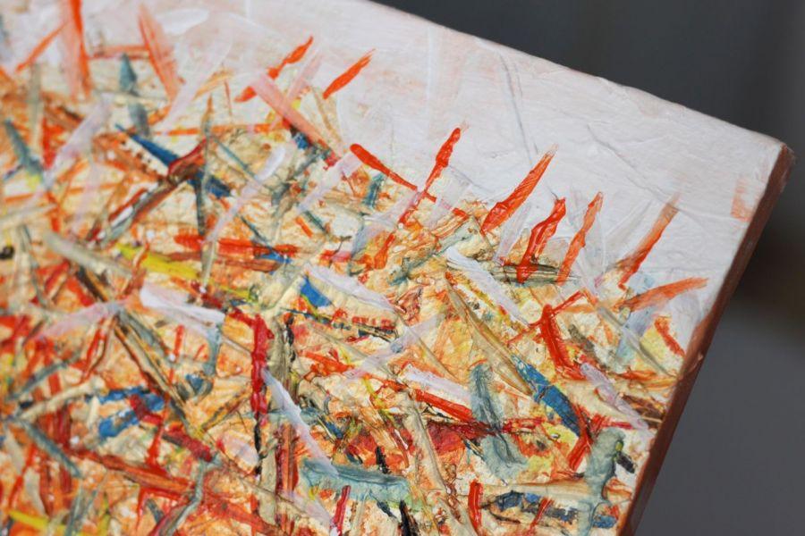 Abstrakcyjny obraz akrylowy, nowoczesny