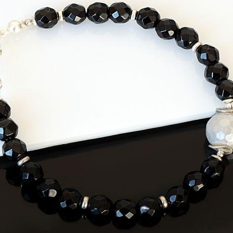 Czarno-biała - bransoletka