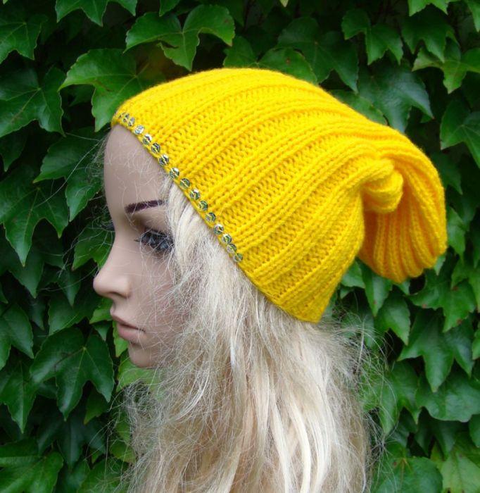 czapka z cekinami - kolory do wyboru - null