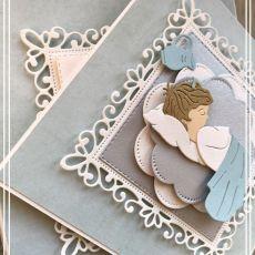 Kartka na Chrzest Święty w pudełku blue boy