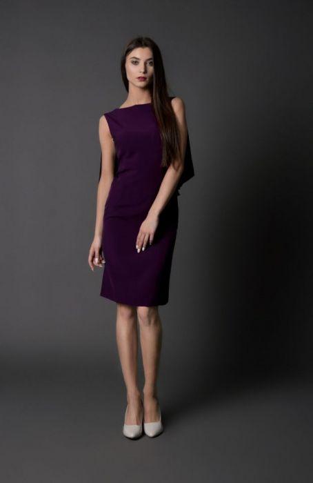 koktajlowa sukienka NATALIJA -fioletowa