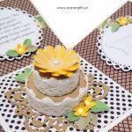 Box na ślub z tortem w ekologicznych kolorach - Ekologiczny box na ślub