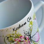 Kubek ręcznie malowany-kocham Cię motylku  -