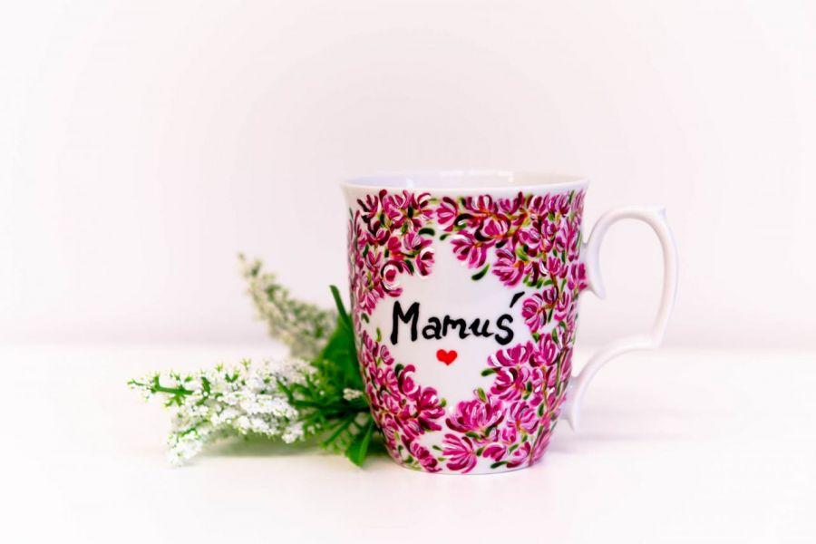 Kubek Dla Mamy - prezent dla mamy kwiaty magnolii