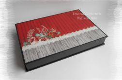 Pudełko na zdjęcia czerwono czarne