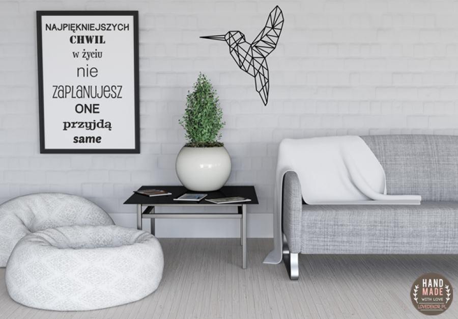 Koliber geometryczna dekoracja na ścianę