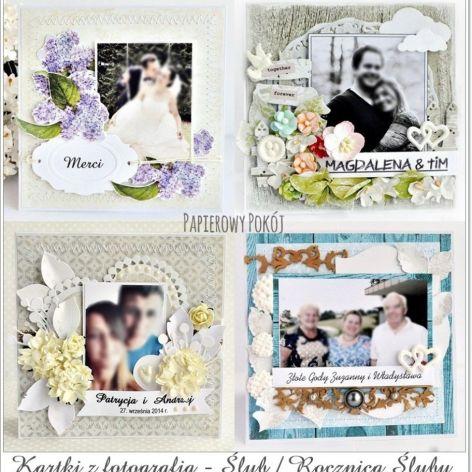 Kartka ślub / rocznica z fotografią