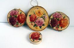 Róże na talarkach z brzozy