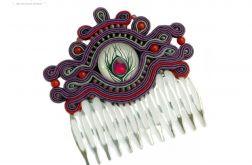 Grzebień do włosów Pawie pióro