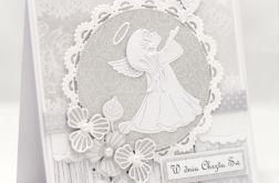 Kartka z aniołkiem na chrzest KCH018