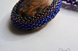 Camilion - wsior jaspis i niebieski malachit