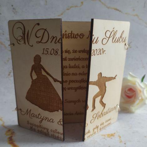 Pamiątka ślubu - kartka personalizowana