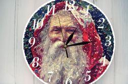 Zegar Ścienny Retro Święty Mikołaj