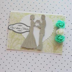 Kartka z okazji ślubu + koperta 2