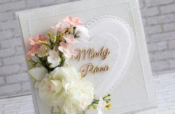 Kwiatowy komplet ślubny w bieli