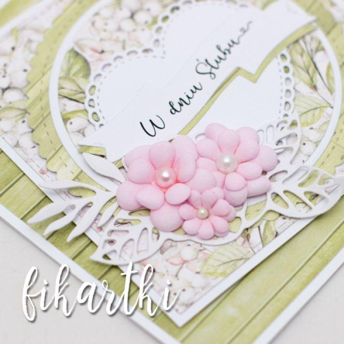 kartka ślubna z kwiatami KSK2018 - młodej parze