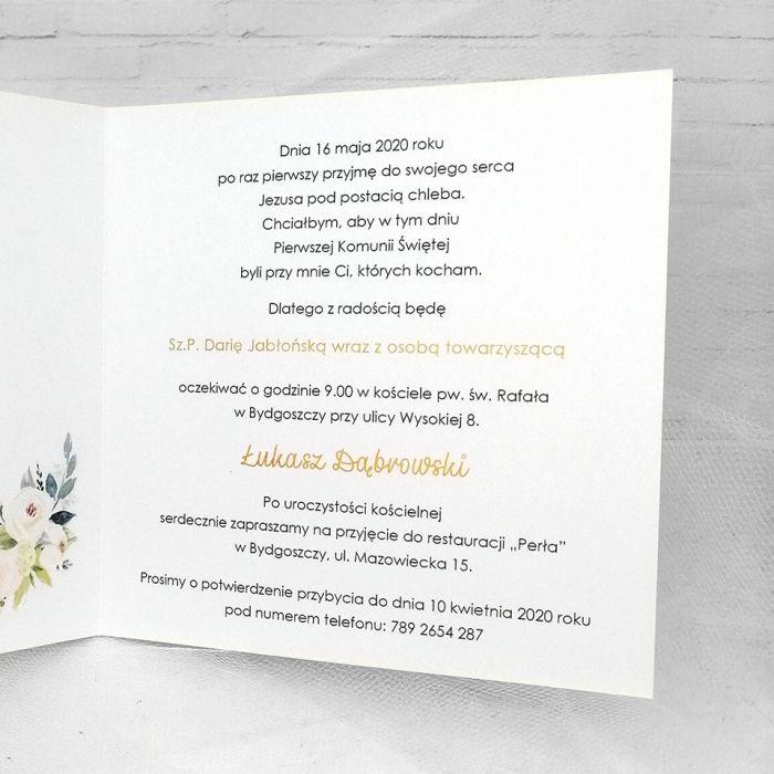 Zaproszenie na komunię dla chłopca delikatne złote geometryczne ZKS 003  - ZKS 003 Zaproszenie na komunię dla chłopca delikatne złote geometryczne(2)
