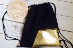worko/plecak ELEGANCE czarny ze złotem