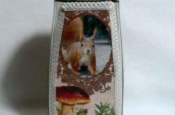 Pojemnik z motywem wiewiórki