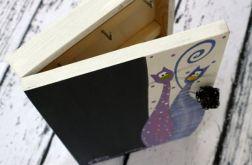 pudełko na klucze z tablicą koty tłuste