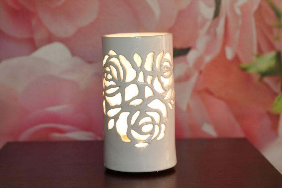 Lampa ceramiczna Róża led -