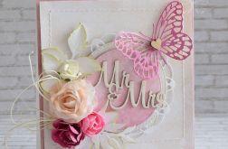 Ślubna kartka z motylem