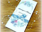 Zaproszenie Akwarela Niebieskie