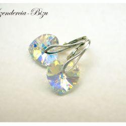 Kolczyki Swarovski Heart 14mm Crystal AB