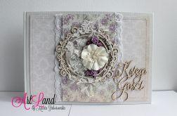 Księga Gości weselnych - lilia i biel